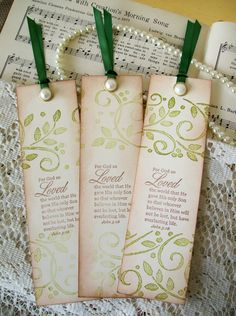 Bookmark Religious Christian Bookmarks For God So by PrayerNotes, $4.25