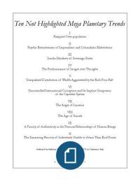 Ten Not Highlighted Mega Planetary Trends