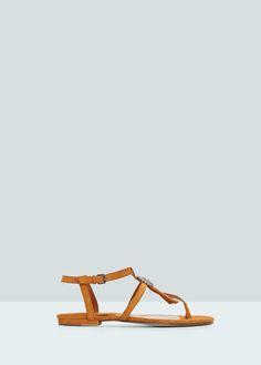 Platte sandalen - Schoenen voor Dames | MANGO Nederland