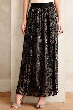 Rhiannon Velvet Burnout Skirt anthropologie.com  anthrofave Anthropologie  Clothing, Jeans Dress, Dress c29d719b1488