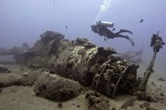 World War II Helldiver that's been sitting on the ocean floor off Ma'alaea since 1944