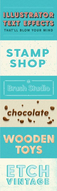 On the Creative Market Blog - 20 Illustrator Text Effects That'll Blow Your Mind