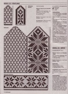 """Photo from album """"Accessoires on Yandex. Knitted Mittens Pattern, Fair Isle Knitting Patterns, Knit Mittens, Knitting Charts, Knitting Socks, Knitting Stitches, Free Knitting, Crochet Patterns, Knitted Gloves"""
