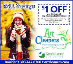 Art Cleaners – Fall Savings Coupon