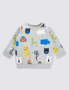 Animal print jumper, kids clothes, kids fashion, outfit, baby sweatshirts, pattern, toddlers, clothes, style, baby outfits, for boys, trendy, modern, cute, fashion, design, brands, print, casual, grey, #babyclothes #jumper #kidsclothes #outfits #animalprint
