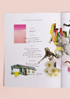 Handwritten type combined with collage meshed images for a personal feel?