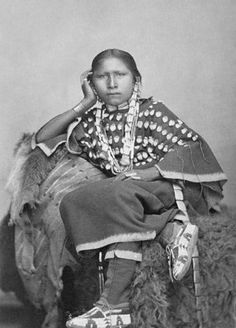 An old photograph of a Northern Cheyenne Girl.