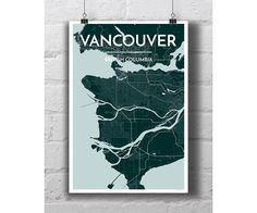 City Map Prints categorized by regions from around the world. Find your own City Map Print most easily from here. Map Wall Art, Map Art, Vancouver Map, Columbia City, British Columbia, Street Wall Art, Print Wallpaper, Custom Map, City Maps