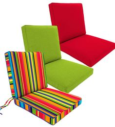 Our Box Edge Outdoor Chair Cushion Has Handy Ties And A Hinged Design For  Comfort On Seat And Back. Durable, Affordable Cushions Let You Update  Seasonally.