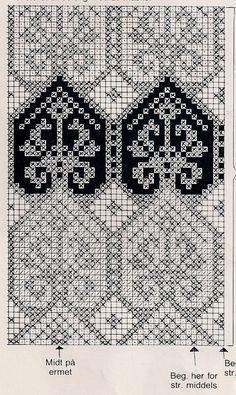 Filet Crochet Charts, Knitting Charts, Knitting Stitches, Cross Stitch Embroidery, Embroidery Patterns, Cross Stitch Patterns, Designer Knitting Patterns, Fair Isle Chart, Chart Design
