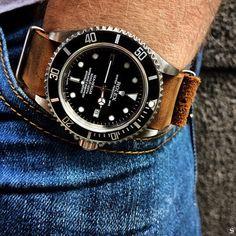 Rolex Sea-Dweller 16600 on nato strap  Via @steve_vs
