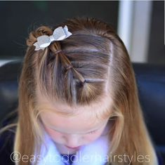 39 ideas hair ideas for girls hairdos Easy Toddler Hairstyles, Baby Girl Hairstyles, Princess Hairstyles, Pretty Hairstyles, Easy Hairstyles, Teenage Hairstyles, Easy Little Girl Hairstyles, Braids For Little Girls, Hairstyle Ideas