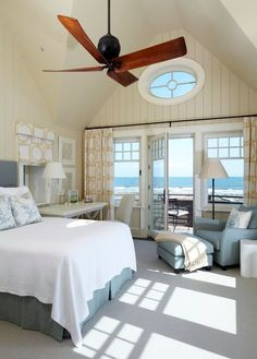 beach-cottage-bedroom Light, spacious, cozy and stylish A great combination of beige, grey white and the ocean blue