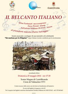 On 25th May, #charity concert for #Philippines at #CastelBrando! Save the date! #castle #veneto