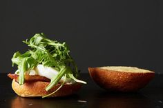 Poached Egg and Bacon Sandwich