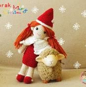 Yaprak Dess : The santa - via @Craftsy I dunno about the doll, but I love the sheep :D
