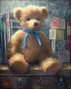 A Trusted Friend: Blue Bell by Thomas Kinkade