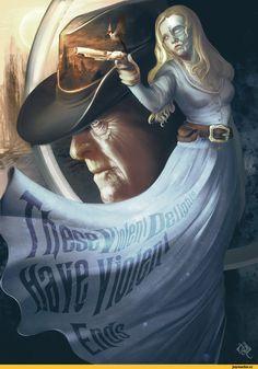 Westworld,сериалы,Dolores Abernathy,Dr. Robert Ford,Belén García Sánchez,песочница,art,арт,красивые картинки