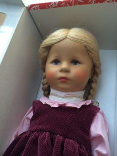 Käthe Kruse Puppe, Heike,47 cm, Im Karton, 1986,  mit Preisschild, unbespielt