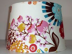 floral lampshade by bumbletees on Etsy, $40.00