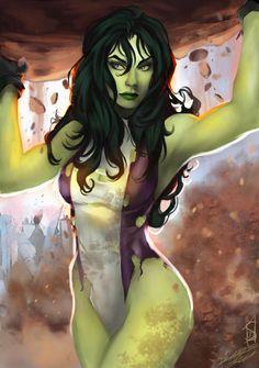 Sarah Christina Forty-Fathoms - Marvel She-Hulk Marvel Comics Art, Marvel Heroes, Marvel Characters, Marvel Avengers, Marvel Women, Marvel Girls, Comics Girls, Comic Anime, Hulk Comic