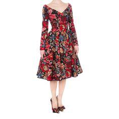 Housewife Dress boho red - Dresses - Autumn Winter 2014/2015 - Online Store - Lena Hoschek Online Shop