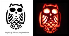 10 Free Halloween Scary & Cool Pumpkin Carving Stencils / Patterns ...