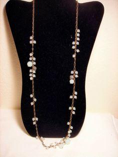 J Crew Sea Green Crystal Bead Necklace #JCrew #Chain
