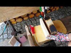 Postarzanie drewna opalaniem i szczotkowaniem. - YouTube