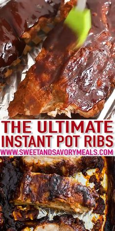 Instant Pot Ribs are so tender that they fall off the bone. The best part is that you can cook them from start to finish in just a little over an hour. pot recipes ribs Best Instant Pot Ribs [VIDEO] - Sweet and Savory Meals Instant Pot Ribs Recipe, Instant Recipes, Instant Pot Dinner Recipes, Instant Pot Country Style Ribs Recipe, Instant Pot Meals, Country Ribs Recipe, Country Style Pork Ribs, Recipes Dinner, Instant Pot Pressure Cooker