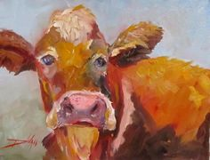 Betsy the Cow, painting by artist Delilah Smith