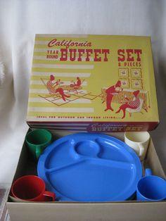 Vintage California Buffet Set by VintageByThePound on Etsy