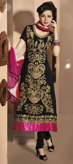96390: Check out designer Raghavendra Rathore's Gold Embroidery on Kameez: similar here