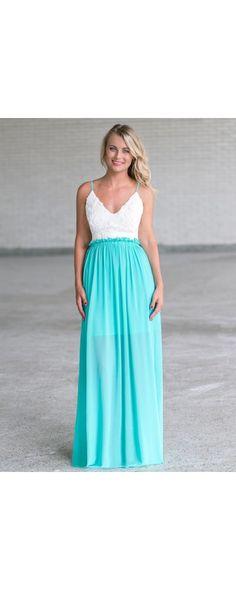 Lily Boutique Ariel Chiffon Open Back Maxi Dress in Jade, $46 Jade Open Back…