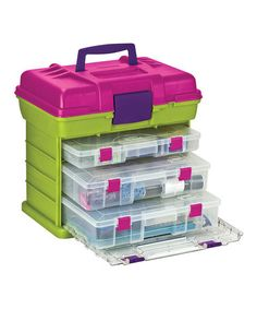 Take a look at this Green & Magenta Grab 'n' Go Organizer by Creative Options on #zulily today!