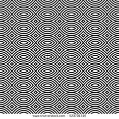 Vector seamless pattern, black & white geometric repeat texture. Simple monochrome abstract mosaic background. Design element for prints, decoration, textile, fabric, digital, web, package, stationery