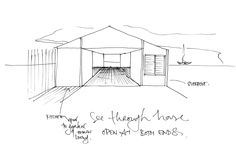 Gull Cottage : Concept Sketches // Poppy Bevan Architecture & interiors