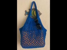 Knitting Designs, Knitting Patterns, Bag Pins, Crochet Market Bag, Net Bag, Filets, Knitting For Beginners, Knitted Bags, Beautiful Crochet