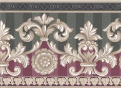 Interior Place - Beige Green Red Molding Leaves Wallpaper Border, $12.99 (http://www.interiorplace.com/beige-green-red-molding-leaves-wallpaper-border/)