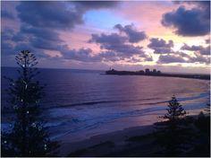 Mooloolaba Beach Sunrise  Captured as part of a time-lapse video at Christmas (23 seconds): youtu.be/gSAHlgiUEKQ Beach Sunrise, Sunshine Coast, Sunrises, Breaking Dawn, Sunrise, Sunsets