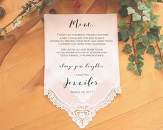 Mother of the Bride Handkerchief-Wedding