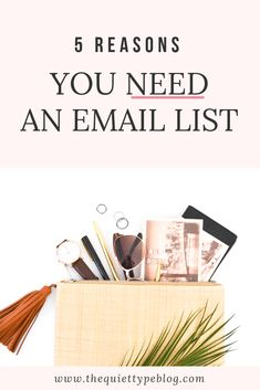 Thinking about starting an email list? Here's why growing an email list is an essential element of your business. Email Marketing Strategy, Small Business Marketing, Online Marketing, Online Business, Business Tips, Marketing Ideas, Email Design, Email List, Make Money Blogging