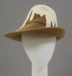 Hat, ca. 1989 | Stephen Jones (British, born 1957) | Material: wool | The Metropolitan Museum of Art, New York