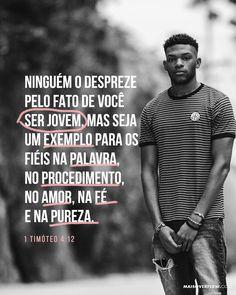 Ninguém o despreze pelo fato de você ser jovem mas seja um exemplo para os fiéis na palavra no procedimento no amor na fé e na pureza. 1 Timóteo 4:12 #30DAYSOFBIBLELETTERING X