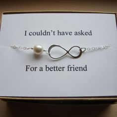 Maid of Honor Infinity Bracelet with Card Set