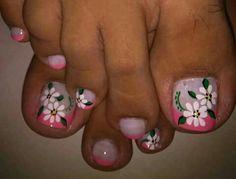 Manicure Y Pedicure, Ideas Para, Finger Nails, Amor, Toe Nail Art, Pretty Toe Nails