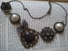 Steampunk Bronze Bib Necklace Victorian by ChristyLouDesigns, $10.00