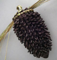 Pinecone basket by Paula Thorne, master Penonscot basketmaker --Native American Baskets  at Home & Away Gallery