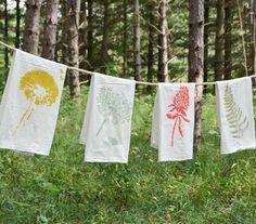 Wild Pretties Towel Set : Set of 4 Flour Sack by JuneDecember