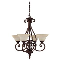 View the Capital Lighting 3074-292 Chandler 4 Light 1 Tier Chandelier at LightingDirect.com.